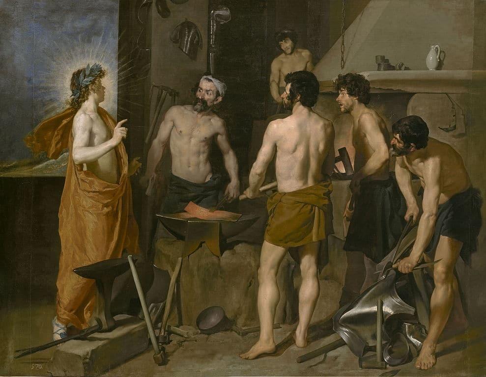 La fragua de Vulcano de Diego Velázquez