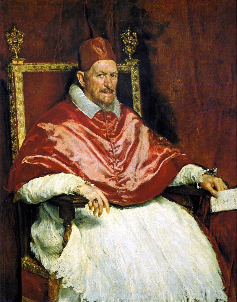 Retrato del Papa Inocencio X de Velázquez