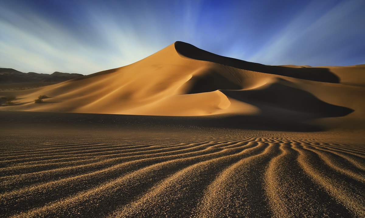 Dunas de Ibex en el Valle de la Muerte