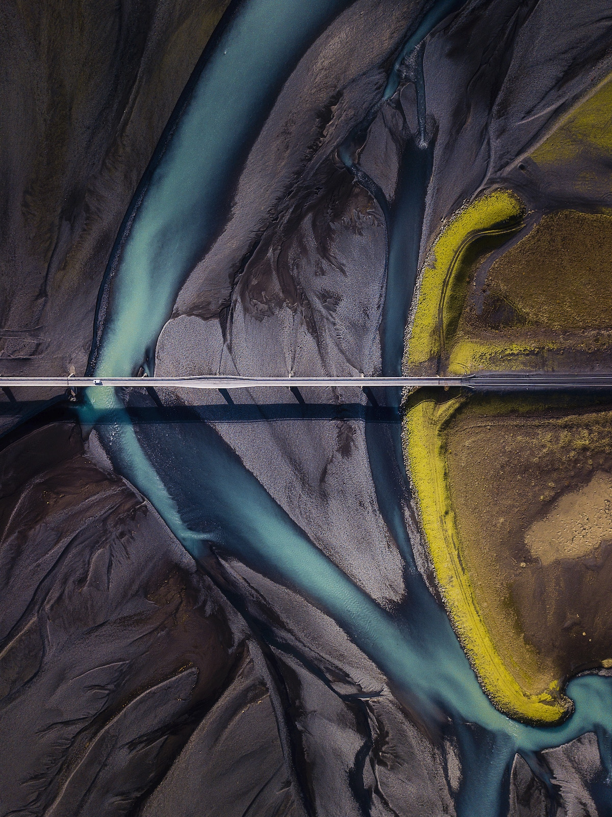 Aerial View of Lomangnupur Mountain in Iceland