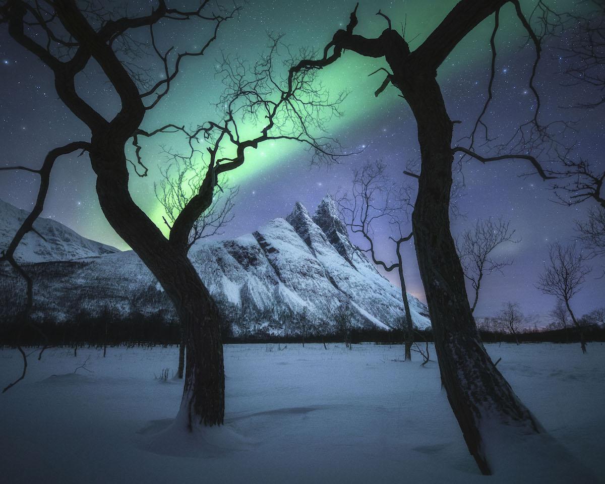 Aurora boreal en Tromsø, Nooruega