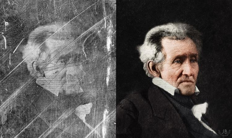Andrew Jackson Restored Photograph