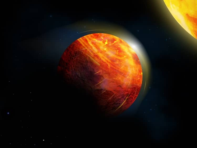 Artist's impression of Exoplanets K2-141b