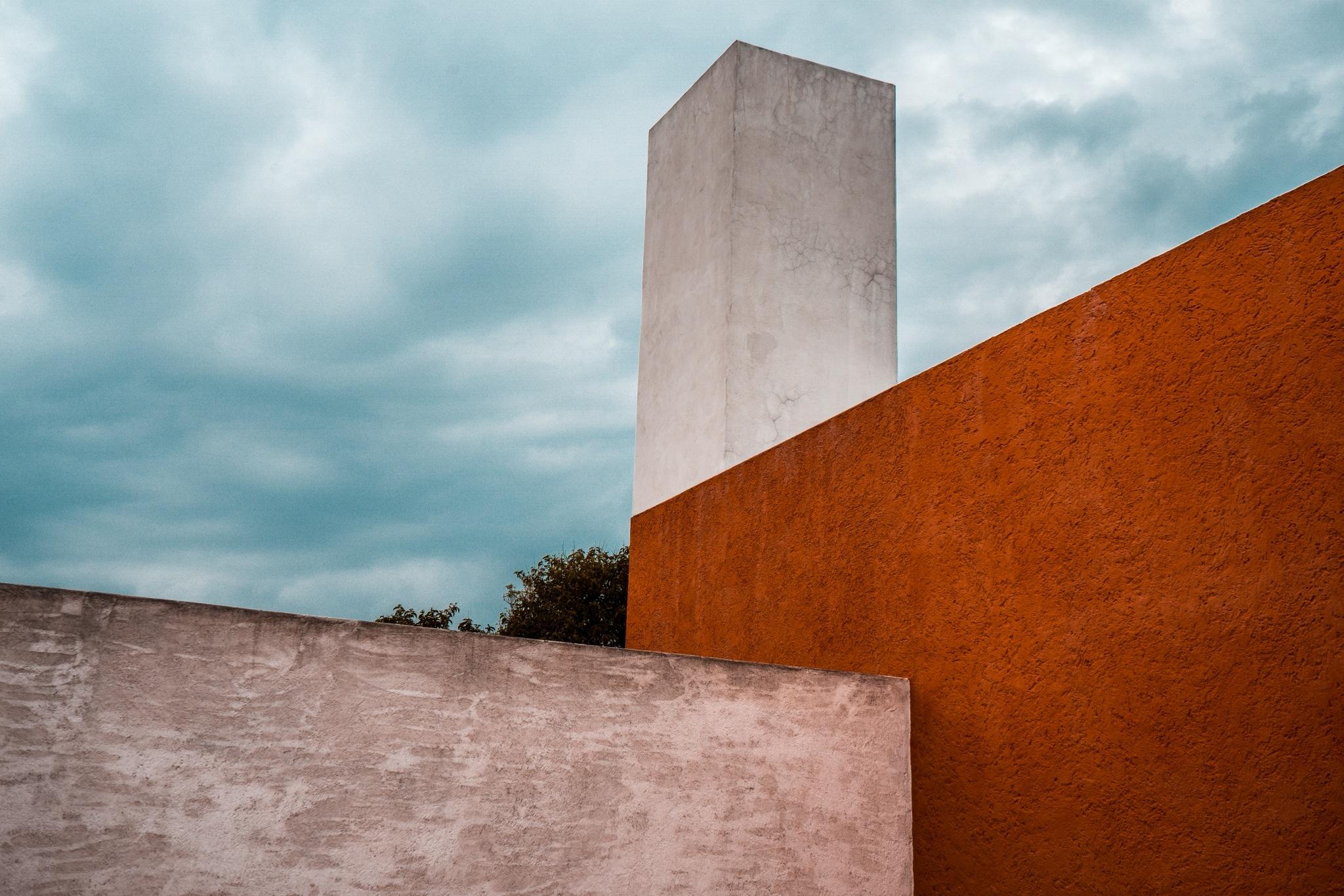 Exterior de la casa estudio Luis Barragán