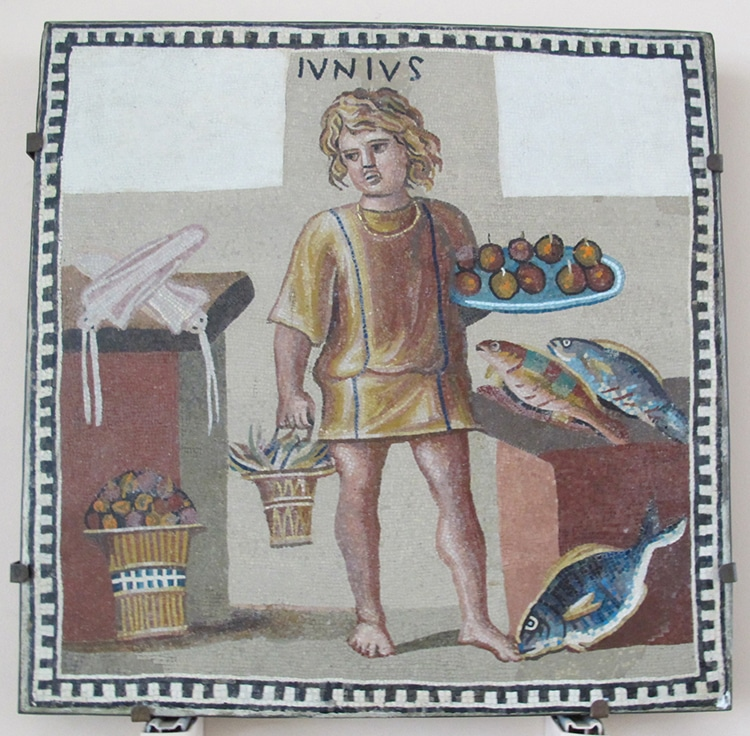 Roman Mosaic Food Kitchen
