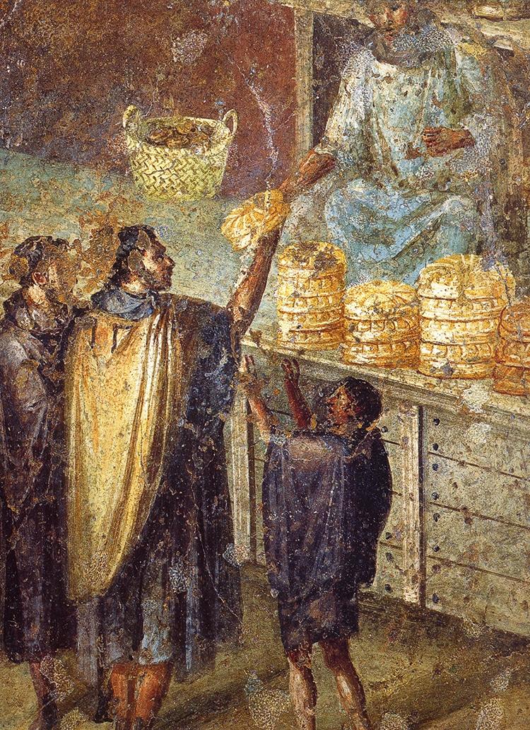 Pompei Roman Mural Bread Street Vendor Stall