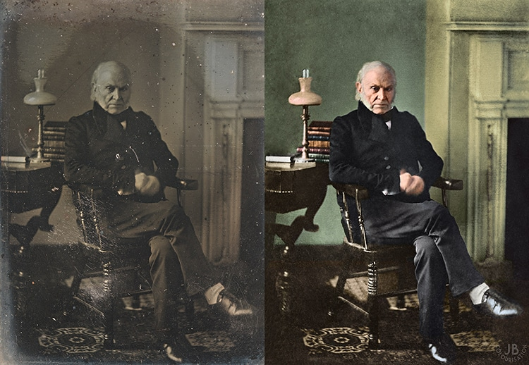 John Quincy Adams Colorized presidential Portrait