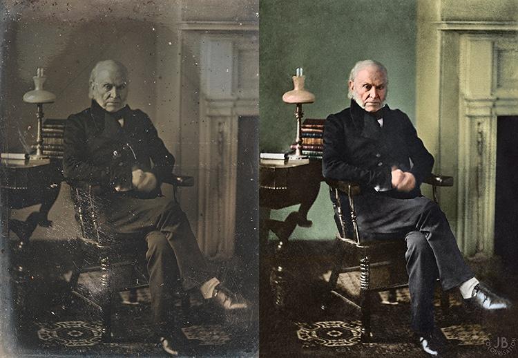 John Quincy Adams Colorized presidential Portrait