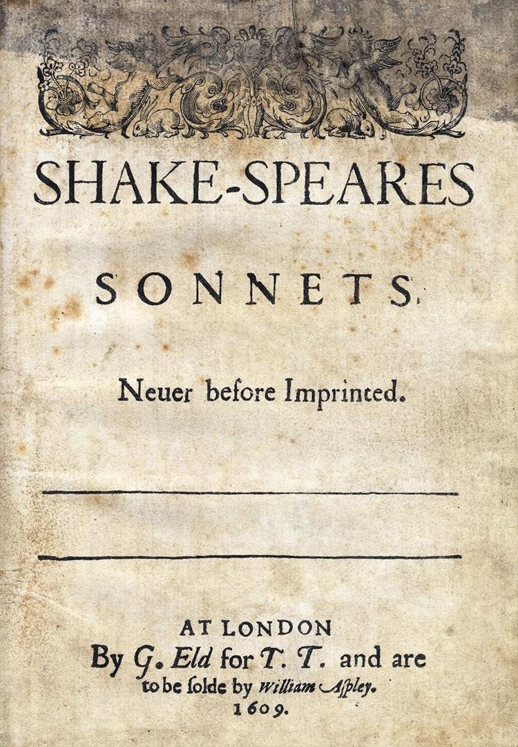 Shakespeare's Sonnets 1609