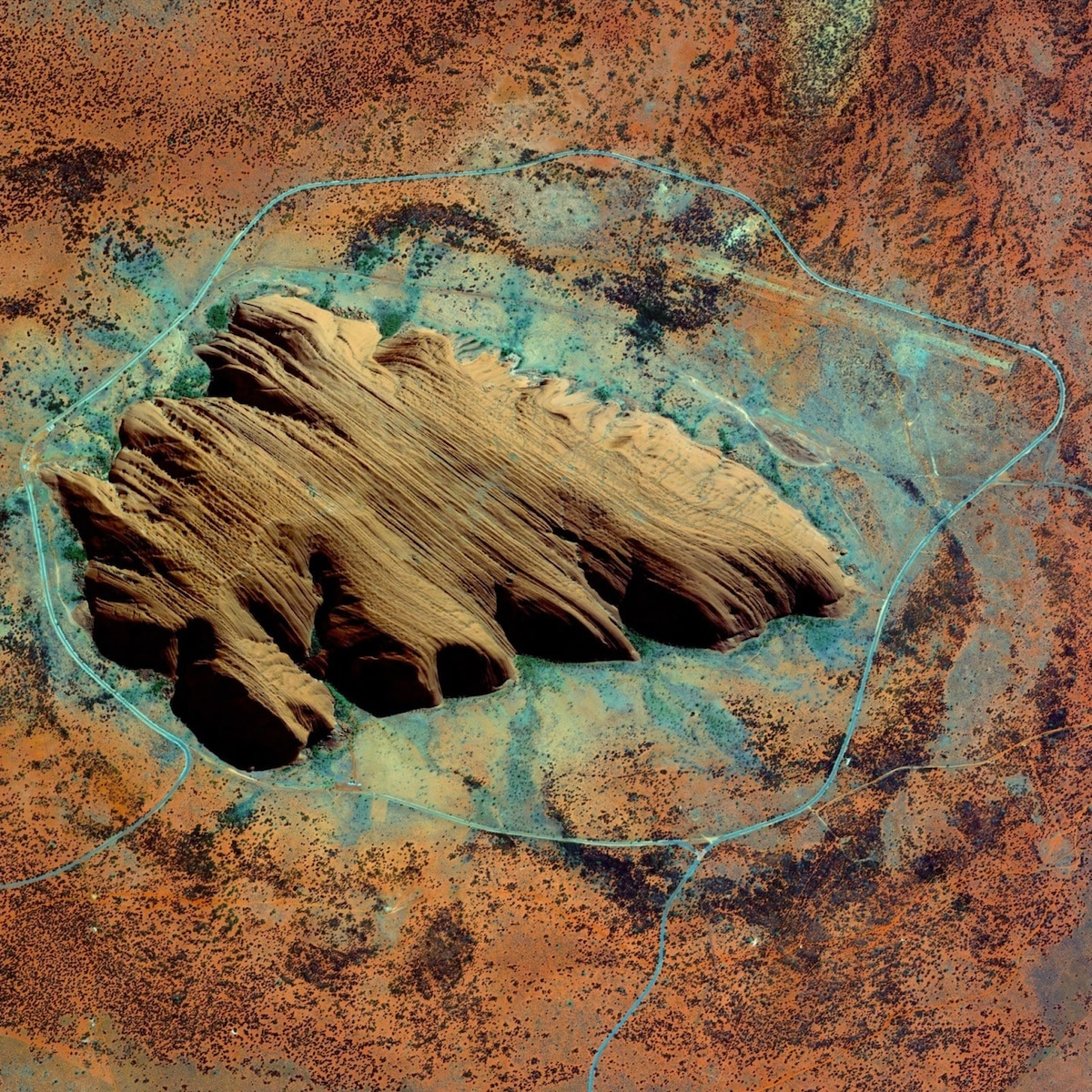 Aerial View of Ayers Rock