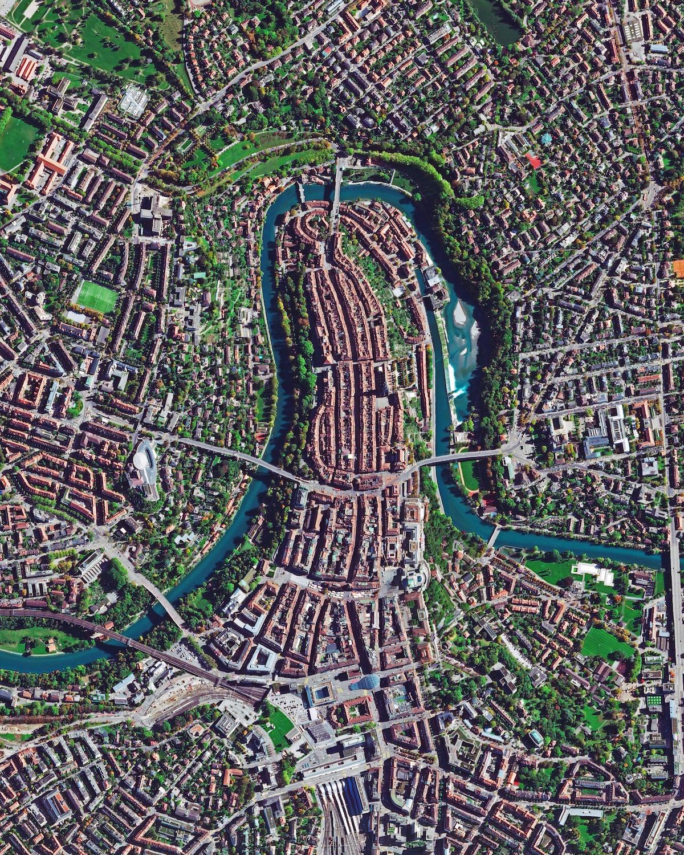 vista aerea de Berna