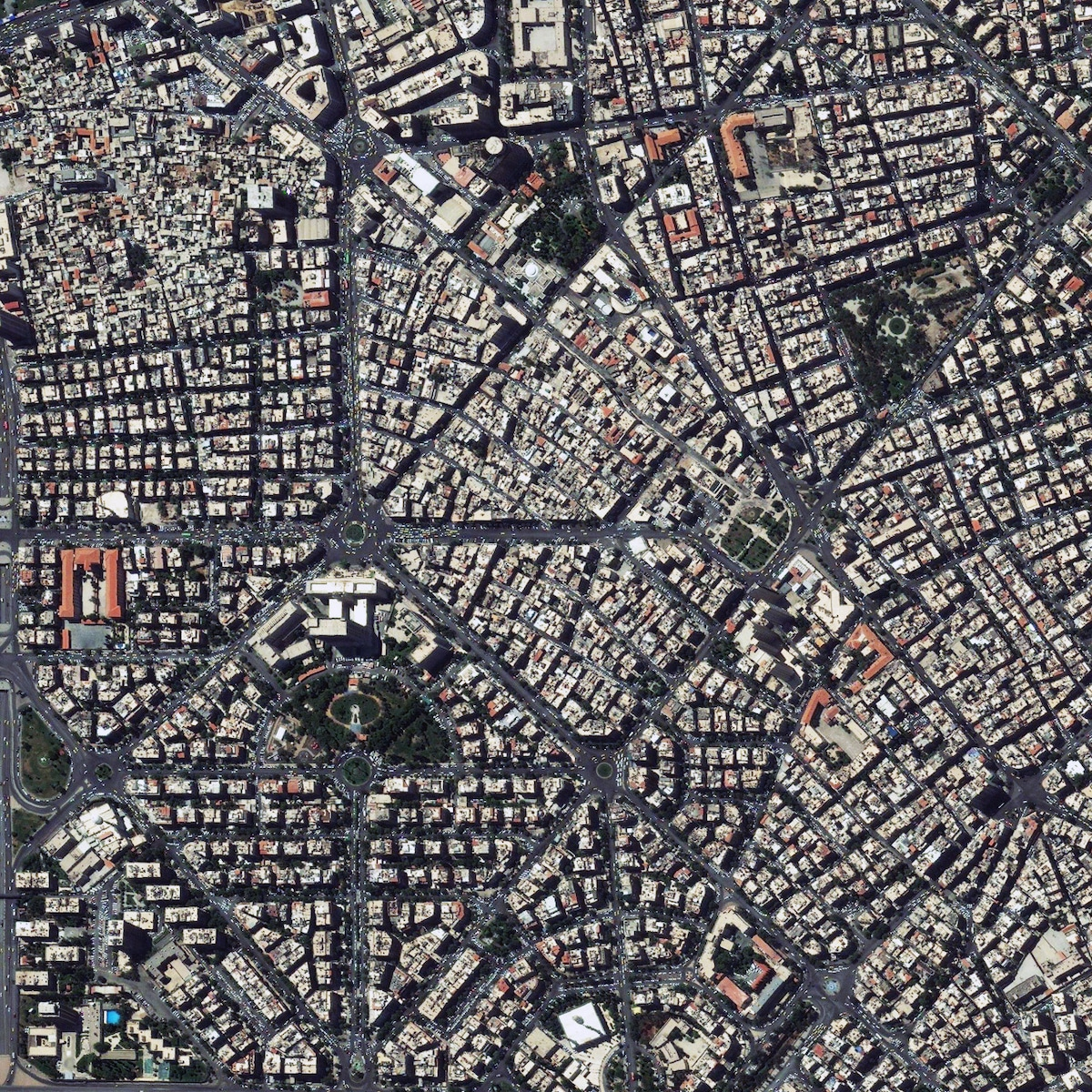 Aerial View of Damascus