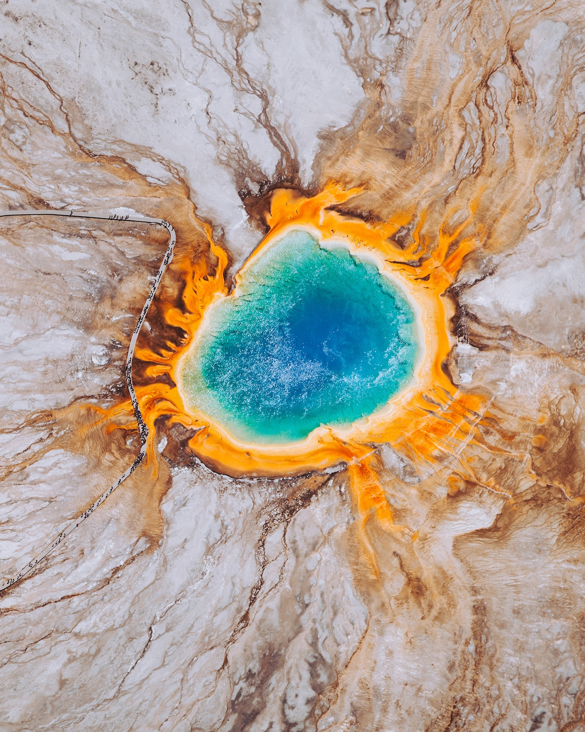 Overhead View of the Grand Prismatic Spring