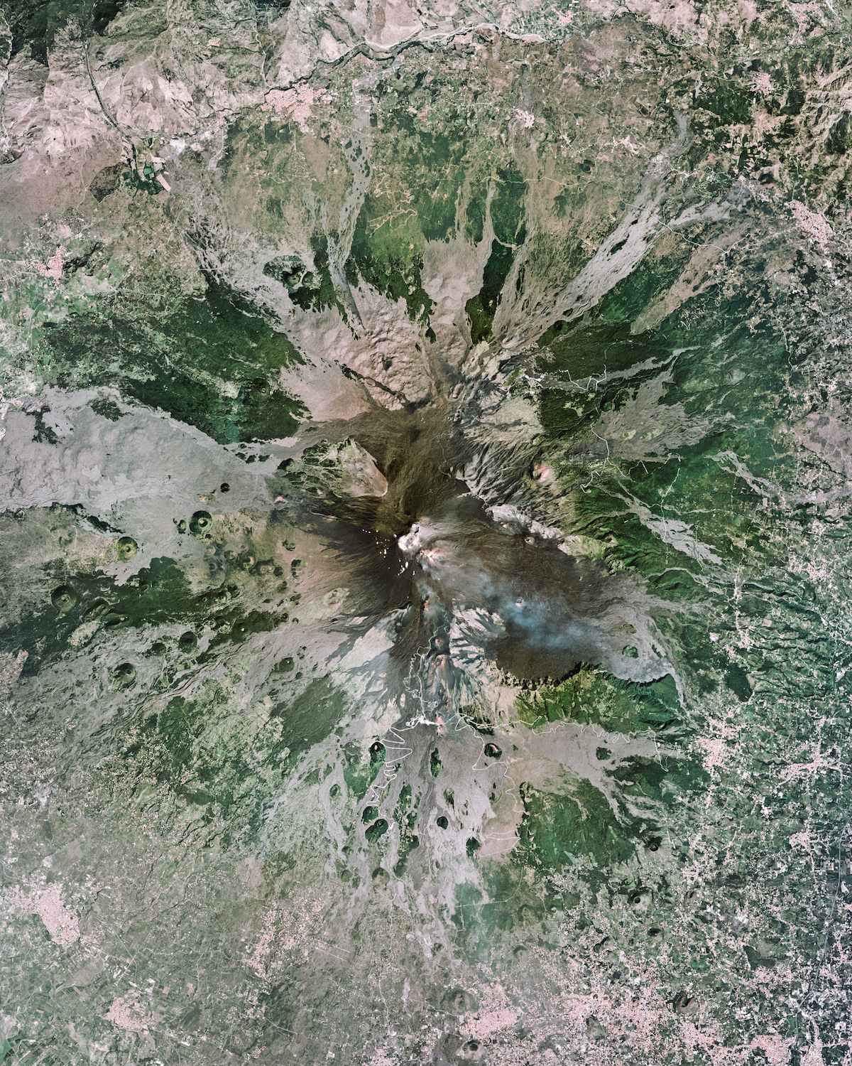 Aerial View of Mount Etna