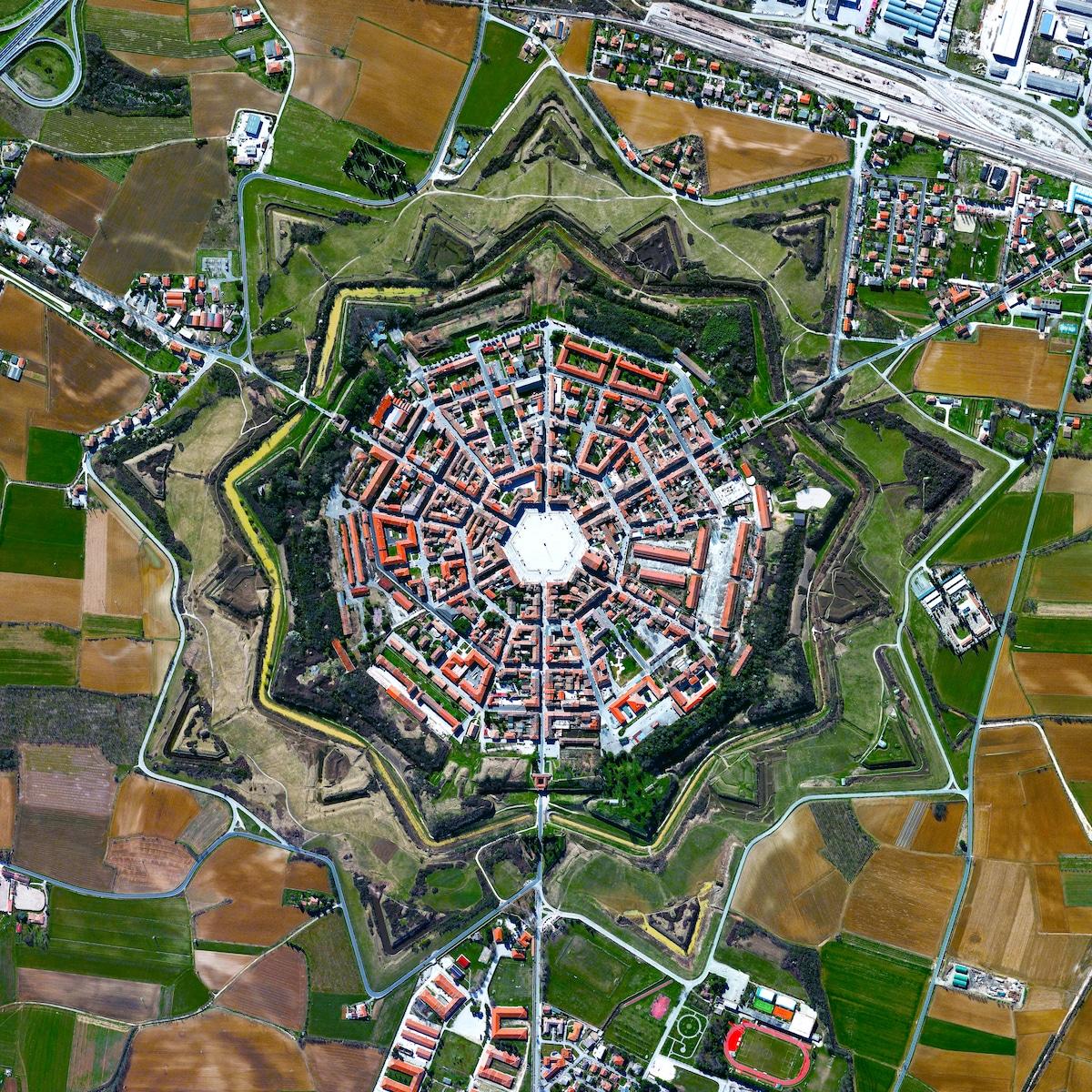 vista aerea de Palmanova