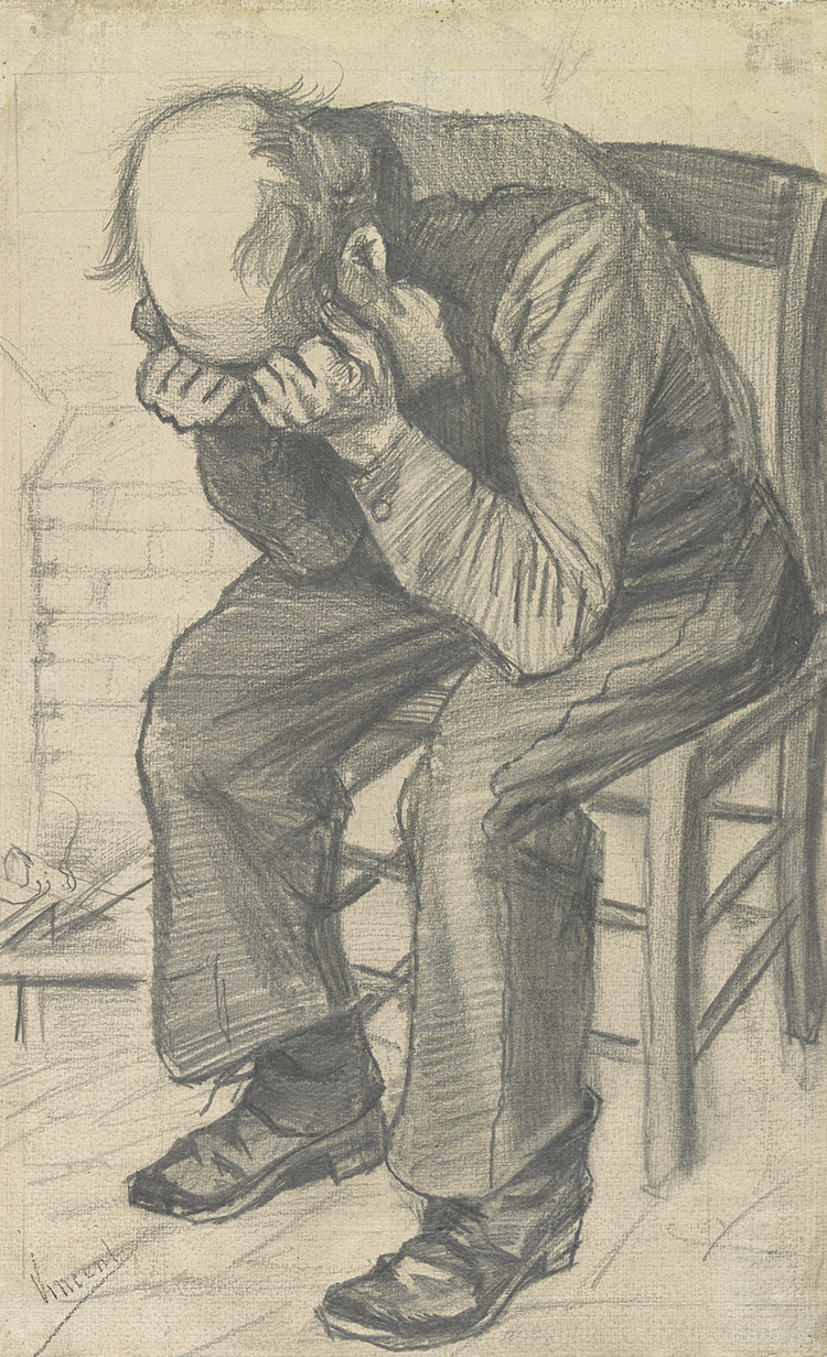 Van Gogh Drawing Worn Out