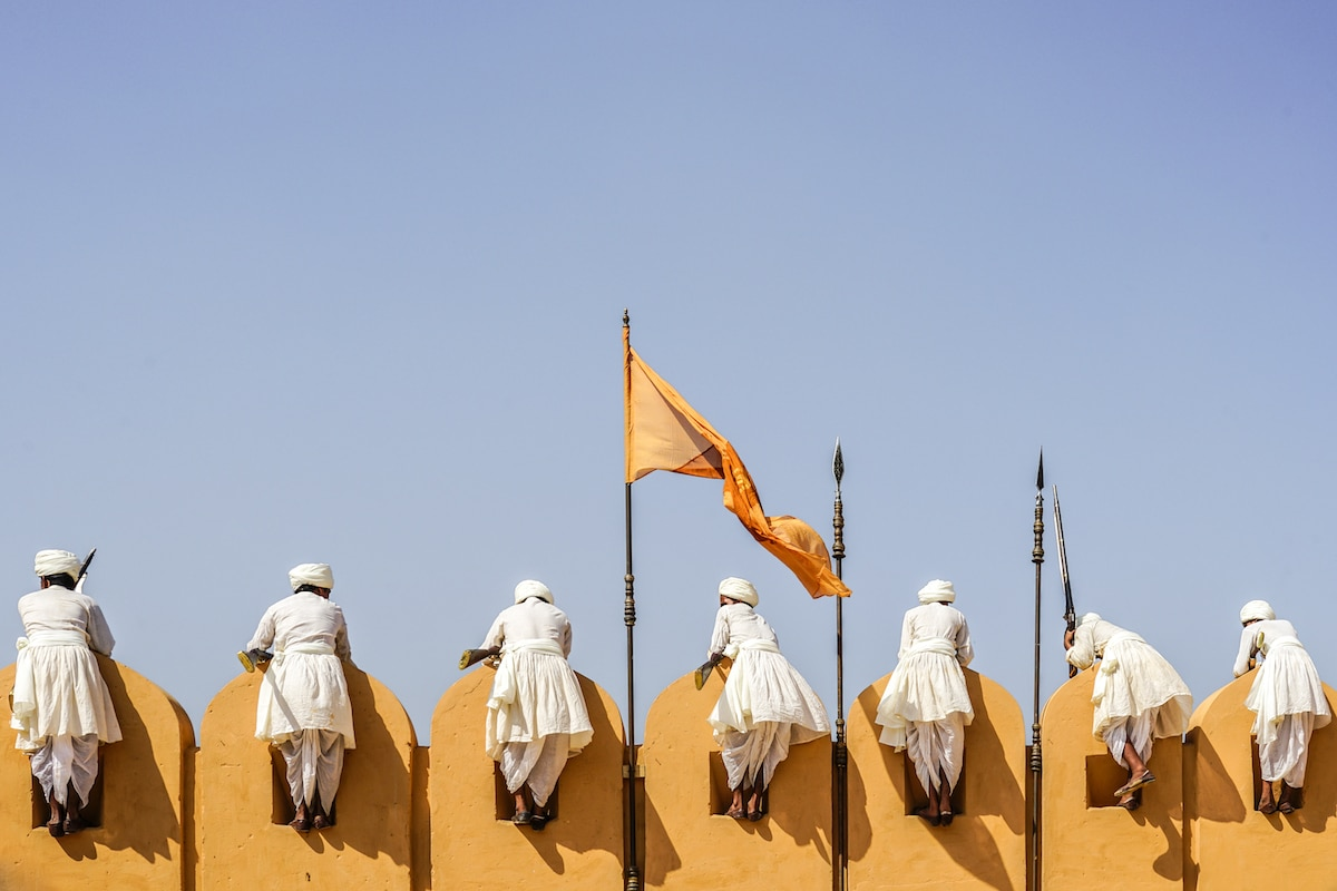 Amer Fort arquitectura de accidentally wes anderson