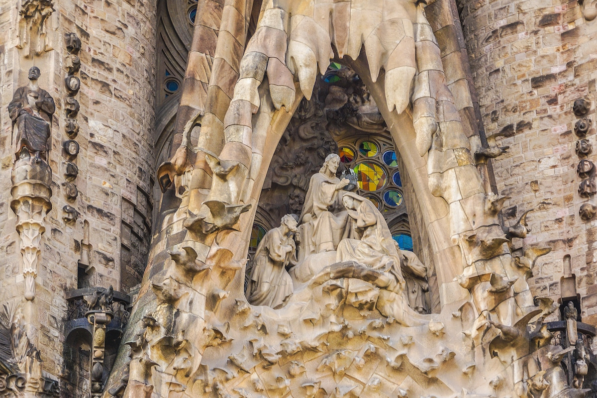 Gaudi's Nativity Scene on La Sagrada Familia