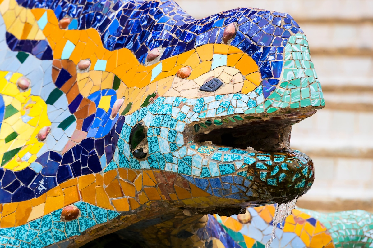 Mosaic Detail Typical for Gaudi