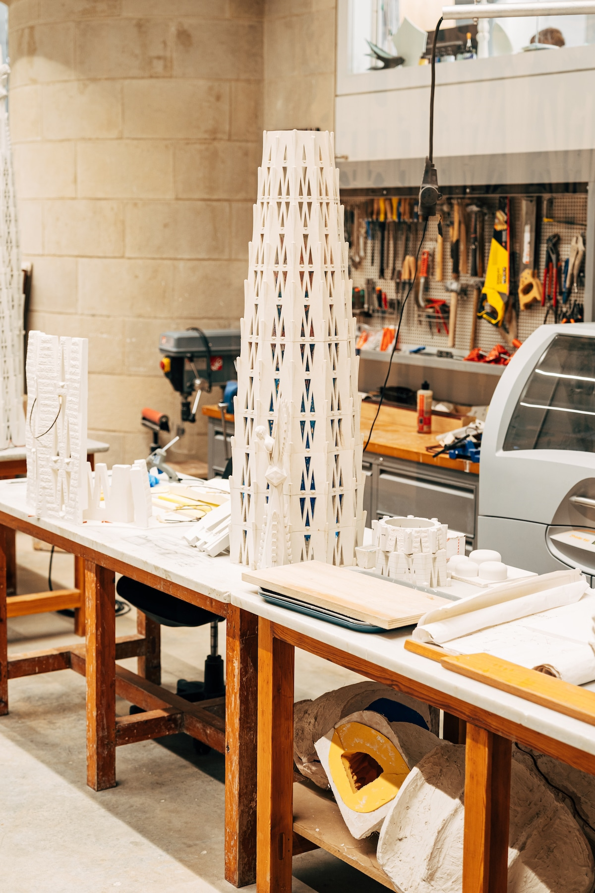 Model in Studio in La Sagrada Familia