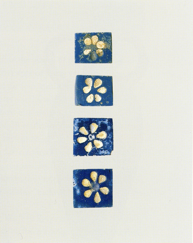 Assryian Glass Flower Inlays