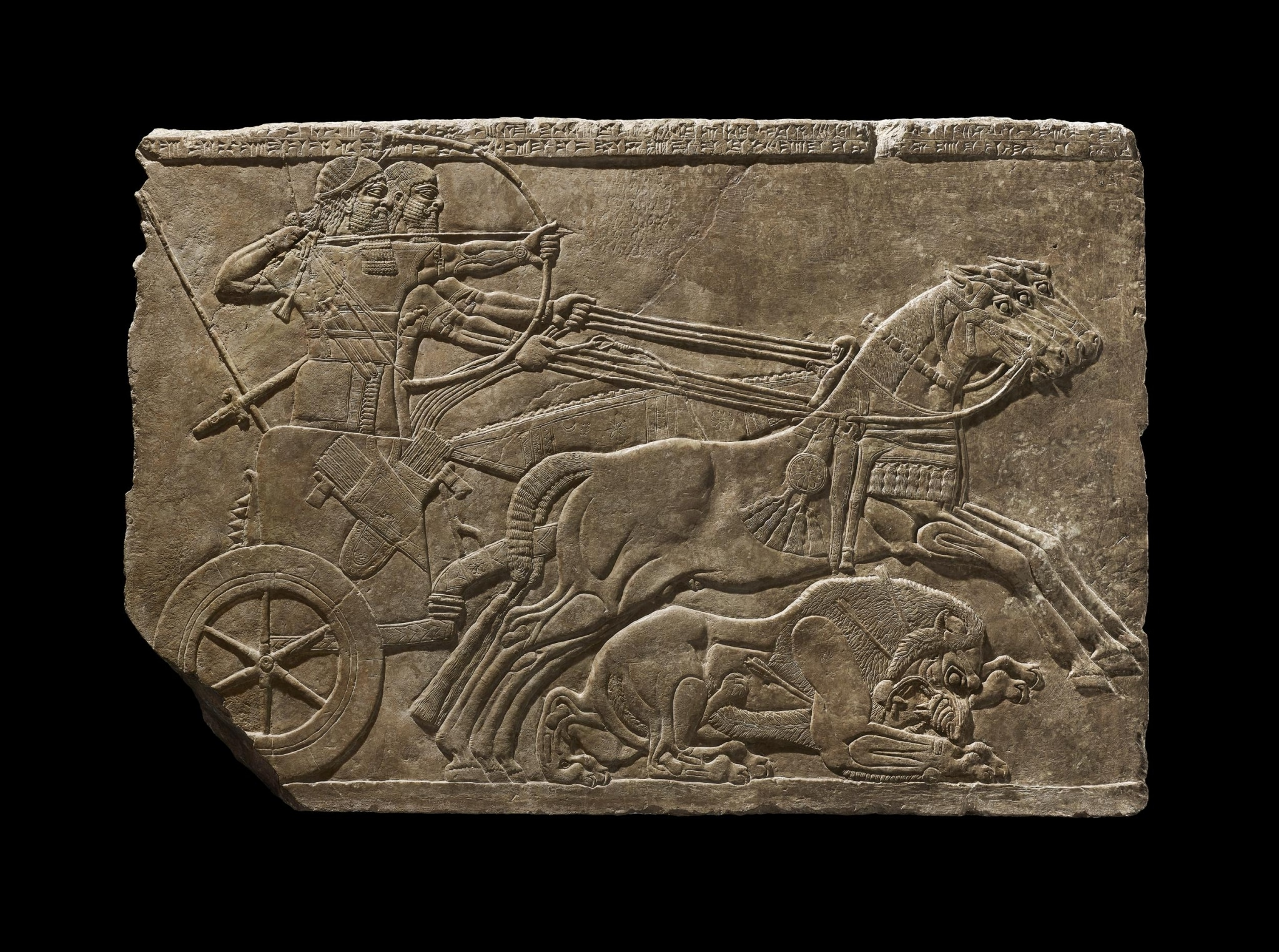Assyrian Royal lion Hunt Nimrud Palace Relief