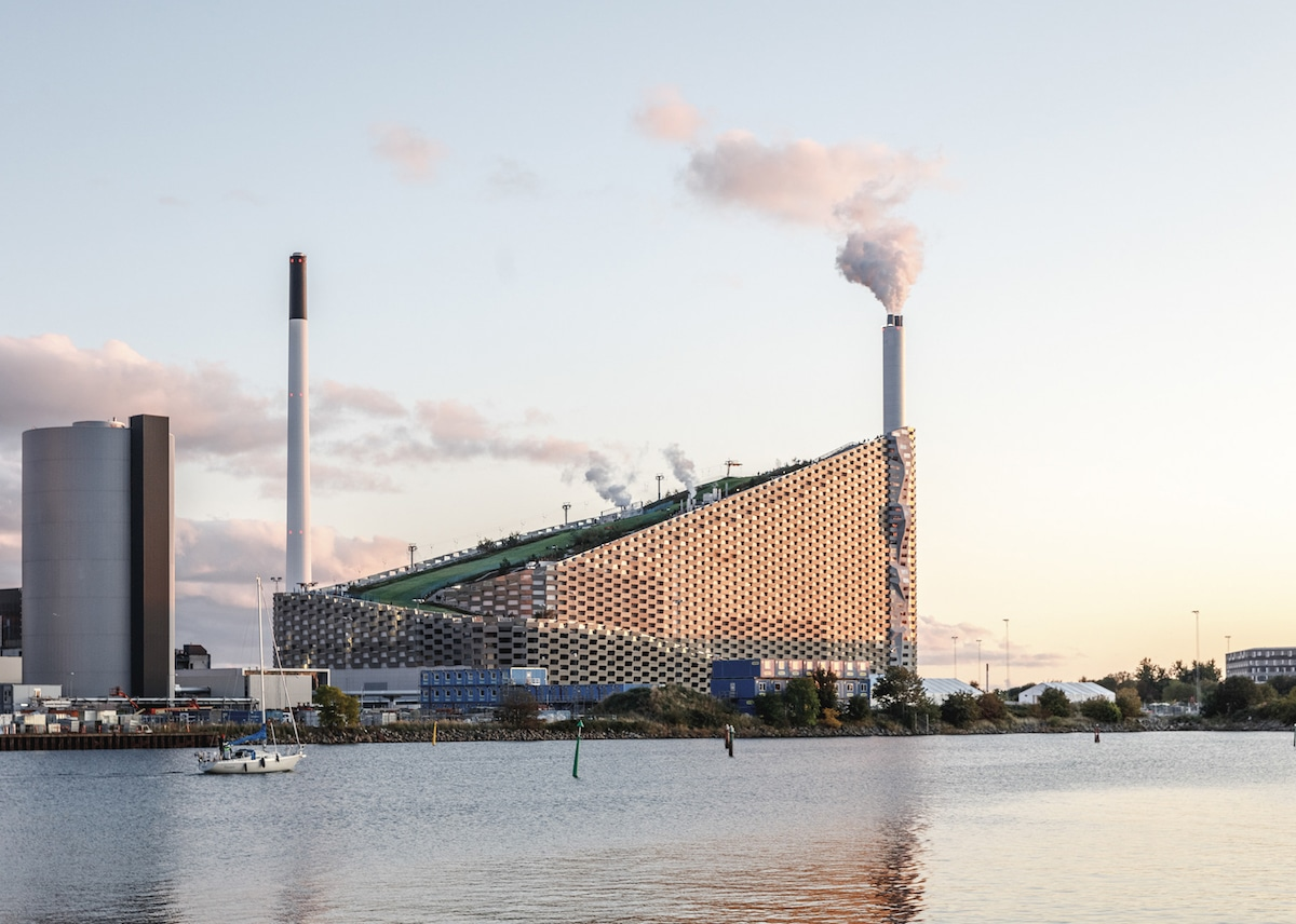 Exterior of Copenhill - Bjarke Ingel Group's Copenhill Is a Power Plant With a Ski Slope on Top