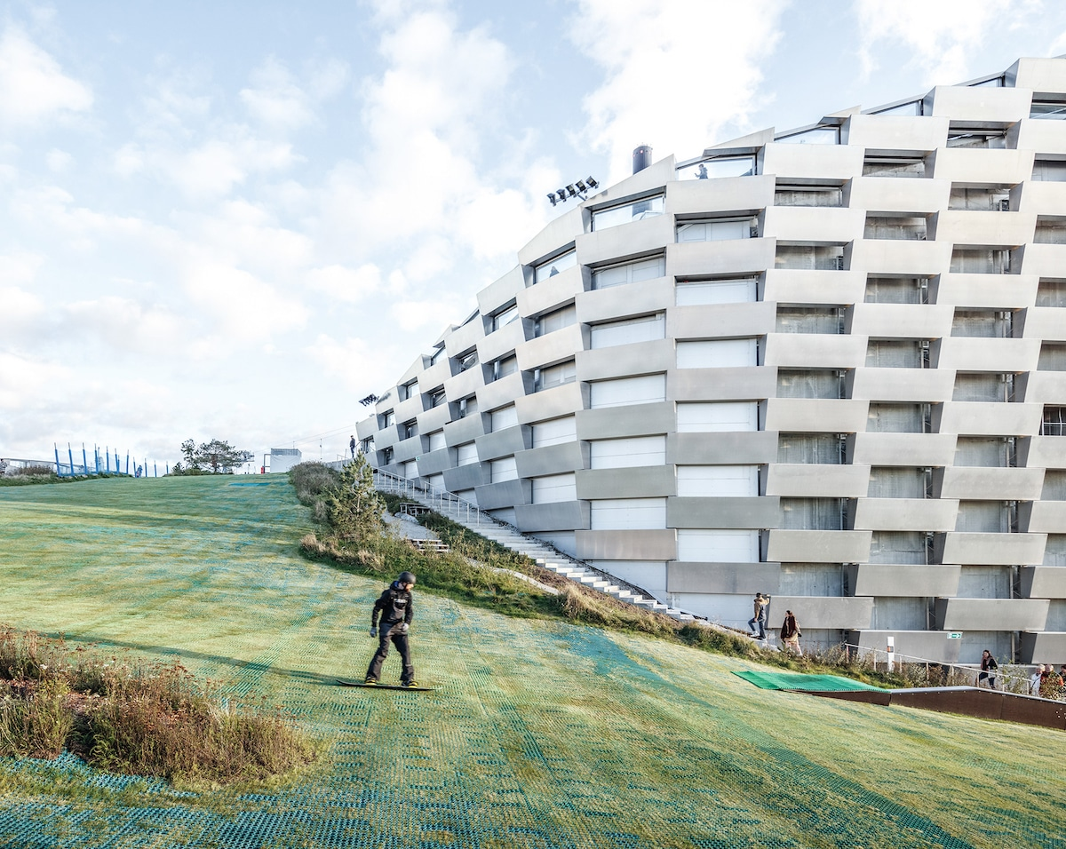 Skiing Down Copenhill - Bjarke Ingel Group's Copenhill Is a Power Plant With a Ski Slope on Top