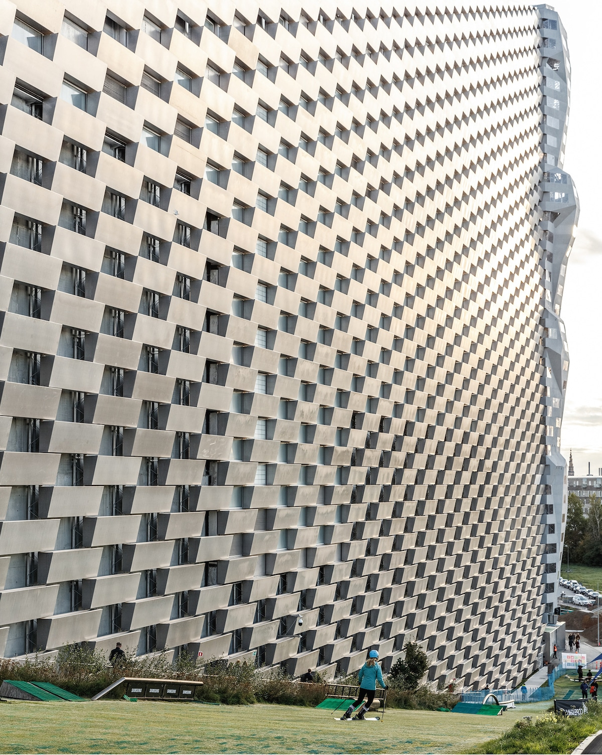 Façade from Slope - Bjarke Ingel Group's Copenhill Is a Power Plant With a Ski Slope on Top