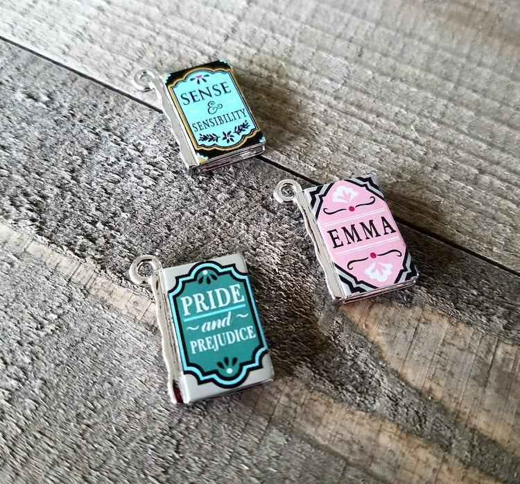 Miniature Book Charms