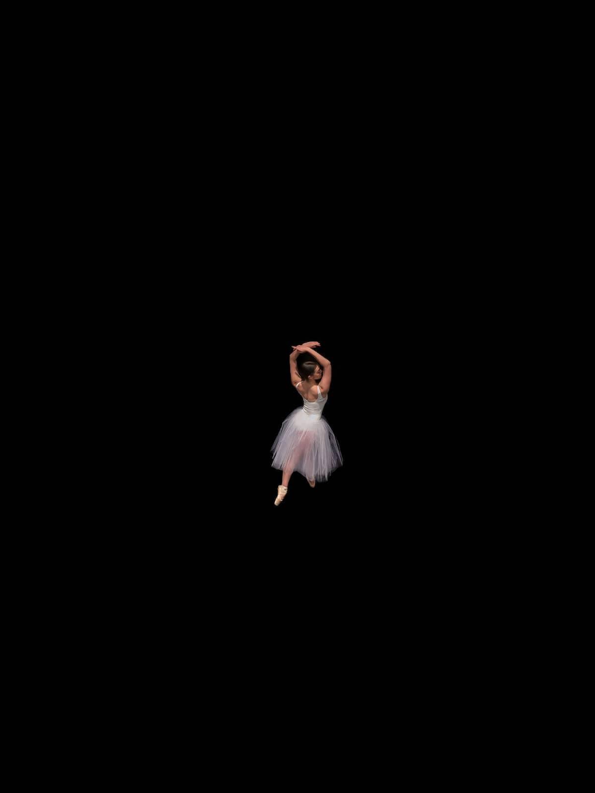 Aerial Photo of a Ballerina