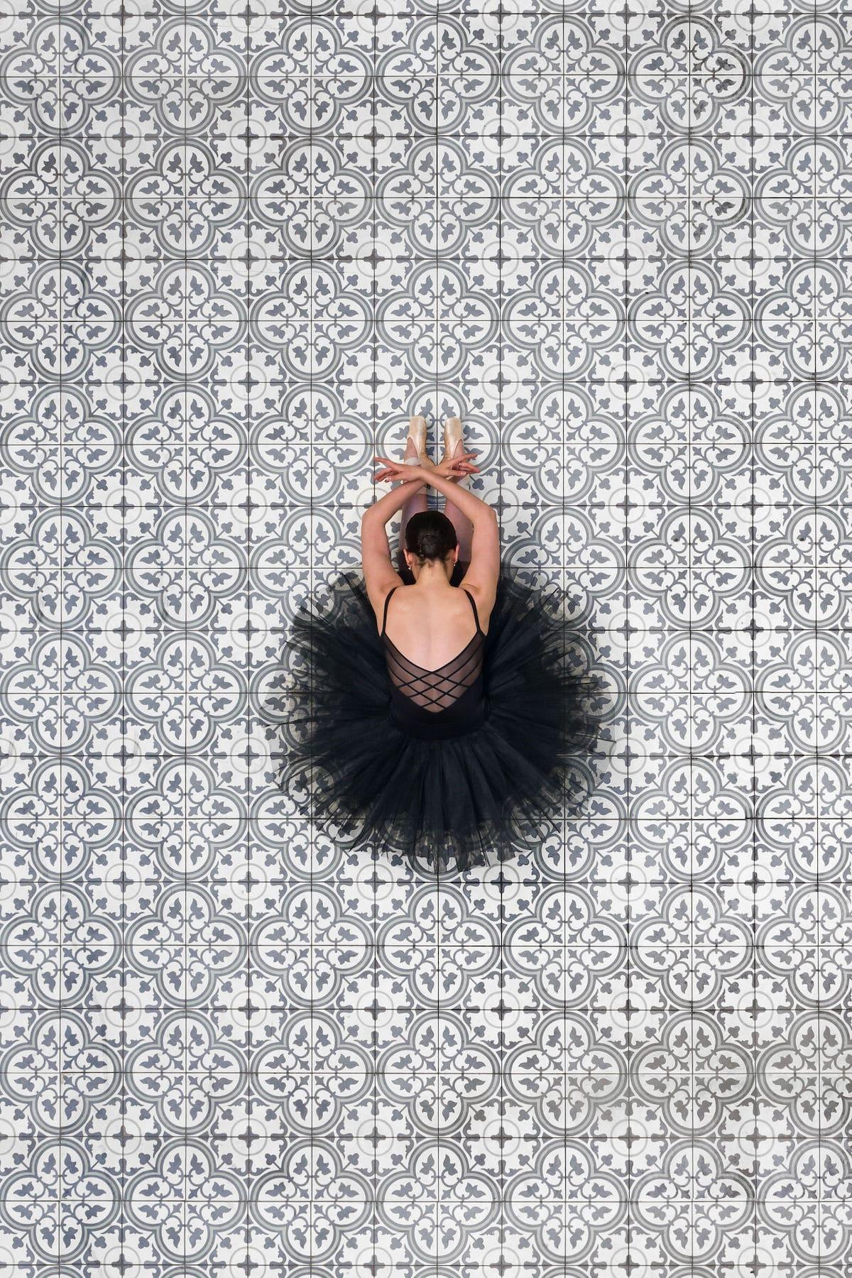 Drone Portrait of a Ballet Dancer