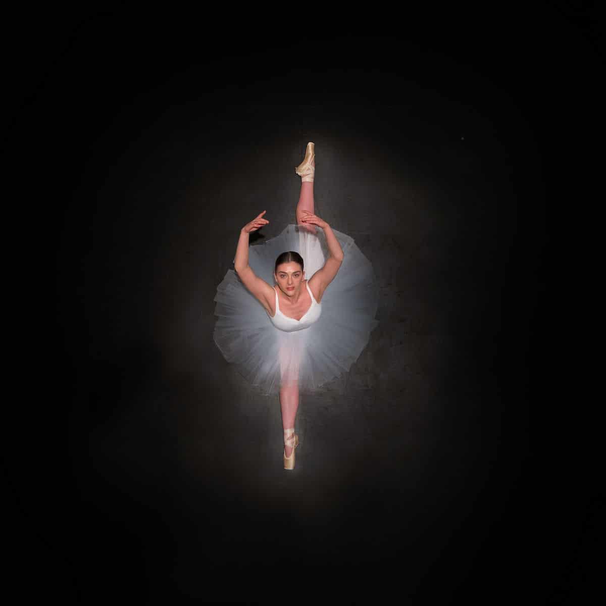 Overhead Photo of a Ballerina