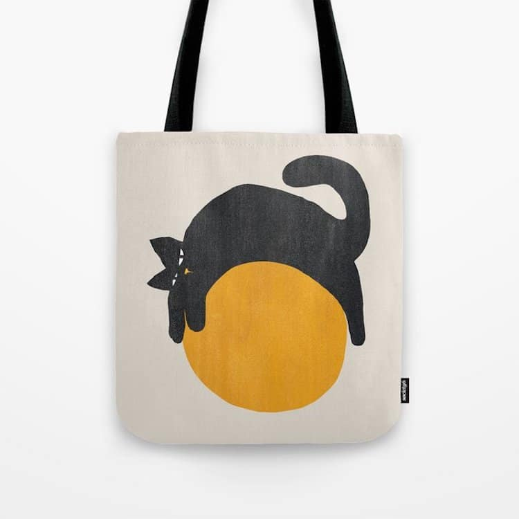 Cat With a Ball Tote Bag