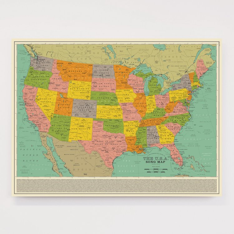 Dorothy USA Song Map Poster