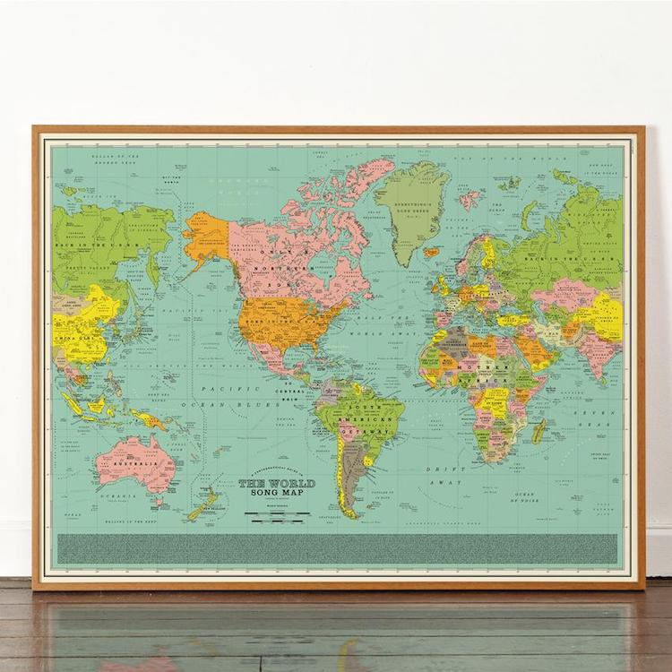 Dorothy World Song Map Poster