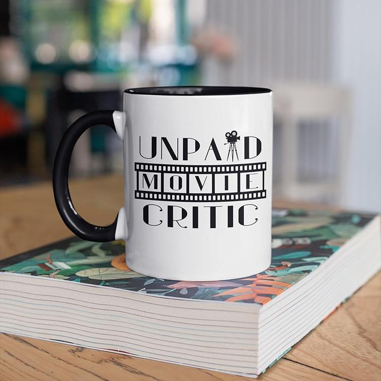 Unpaid Film Critic Gift Mug