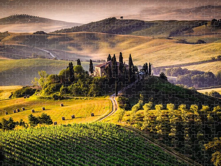 Puzzle of the Tuscan Landscape