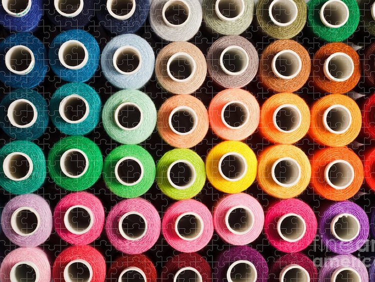 Puzzle of Colorful Bobbins of Threads