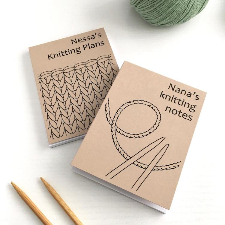 Personalized Knitters Notebook