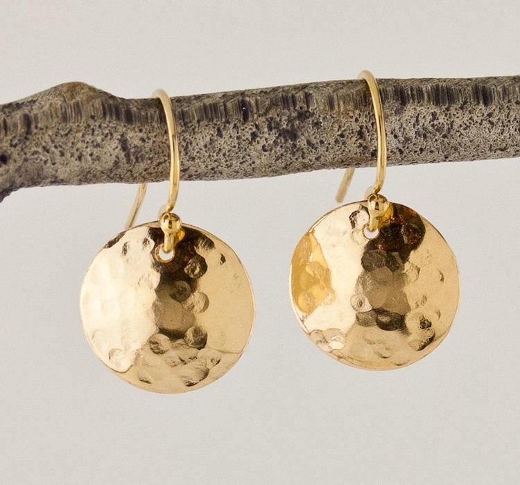Gold Disc Earrings on Etsy