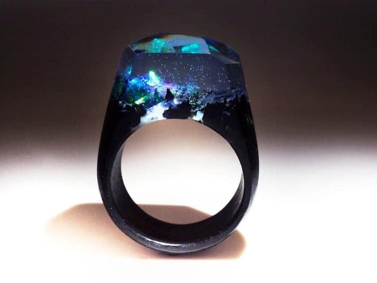 Magic Kingdom Wood Ring on Etsy