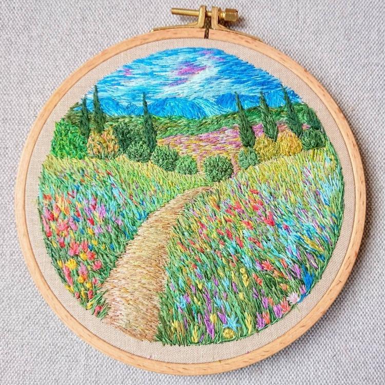 Impressionism Embroidery by Ludmila Perevalova