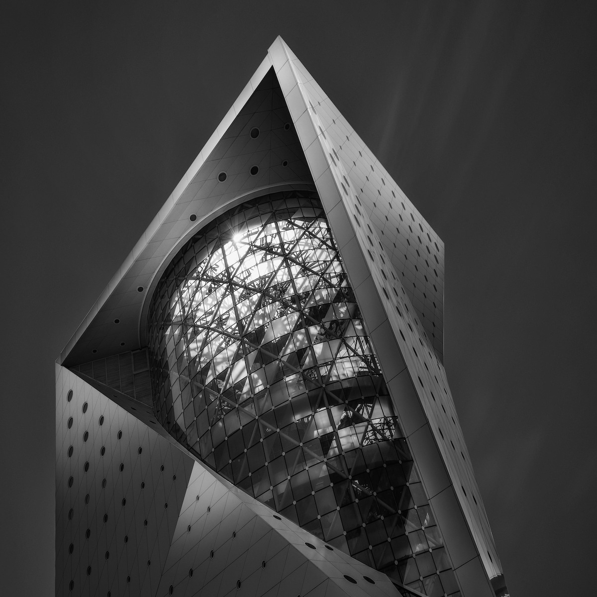 Black and White Artistic Photo of a Building