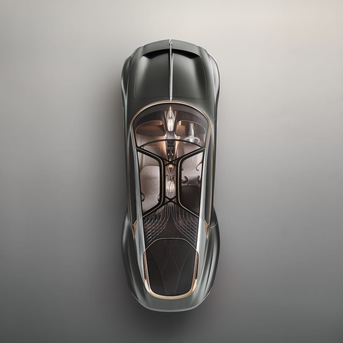 Overhead View of a Luxury Vehicle