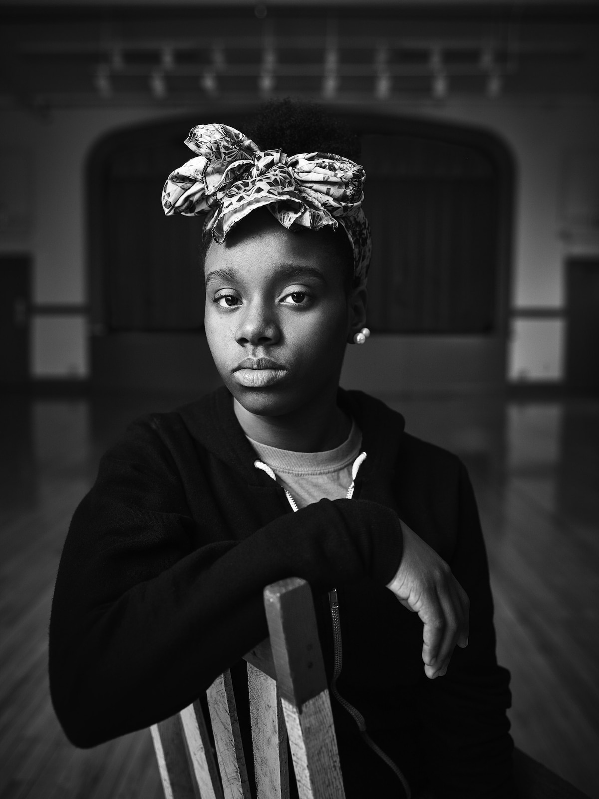Portrait of a Young Black Girl by Sandro Miller