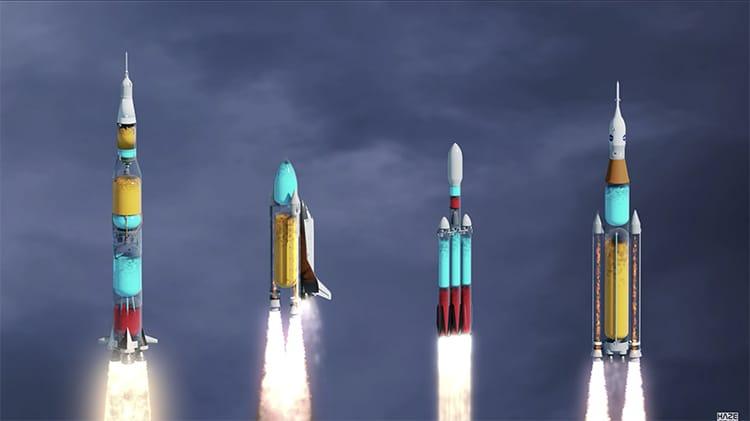 cohetes funcionamiento lanzamiento
