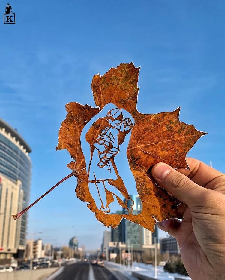 Leaf Cut Out by Kanat Nurtazin