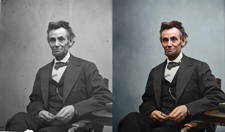 Lincoln Colorized Photograph Portrait James Berridge