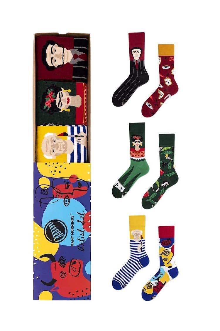 Many Mornings Artist Sock Gift Set